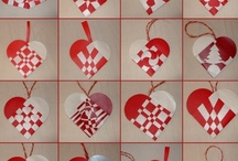 Paper heart baskets - christmas - julehjerter - yule hearts / A selection of lovely woven baskets mostly for christmas