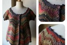 Crochet - Cardigan Jacket Tops / crochet and knit - cardigans, jackets, tops, ponchos, not shawls / by A Jams...