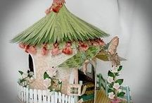 Fairy Gardens DIY & Inspirations! / Fairy Gardens, Fairy Houses, Fairy Furniture, Fairy Ponds, Fairy Lighting, Fairy Magick, Fairy DIY, Fairy Clothes, EVERYTHING Fairy Inspired!  New House has perfect yard and mini pond to make Fairies very welcome!  =) / by Lilac Moon Wicked Gifts
