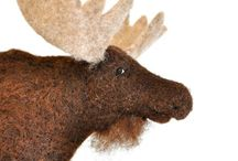 Deer love. Moose, reindeer ............ / All kinds of deer. Live, skuffede and felted.