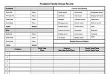 Free Chart Downloads for Genealogy / Free charts and forms that are essential, and useful for genealogical research