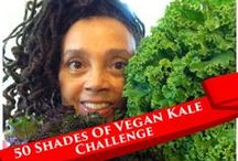 50 Shades Of Vegan Kale Challenge / I recently read 50 Shades Of Kale. Most of the recipes were NOT vegan. Can we come up with 50 VEGAN kale recipes? Pin your own or any you find on the web. Become a member of Food For the Soul (it's free) and post your recipes on the site. http://foodforthesoul.opare.net