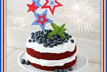 4th of July / Dishes, Desserts and Drinks for Celebrating the 4th of July