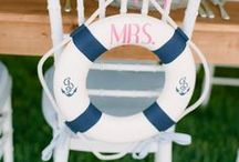 Wedding Theme Nautical / Lots of gorgeous Nautical wedding inspiration in shades of Navy, white and pale pink with wooden and rustic coastal accents. To match my Nautical range of wedding stationery http://www.knotsandkisses.co.uk/product-category/brights-collection/nautical/