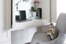 Dining Room Office Space / Inspiration for our dining room which also needs to incorporate a small home office