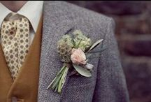Grooms Fashion / Its not all about the bride's dress! Lots of inspiration for the groom's out there who want to look spot on as well!