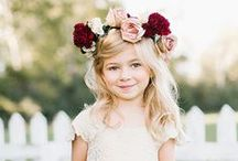 Flower Girls / Inspiration for flower girls and younger bridesmaids outfits, dresses and flowers
