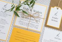 Wedding Themes Modern Yellow & White / Inspiration and styling ideas to match my Sketch range of bright yellow wedding invitations which have a modern rustic feel with plenty of crisp white and black details. http://www.knotsandkisses.co.uk/product-category/brights-collection/sketch-bird/