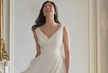 Augusta Jones / Beautifully elegant lace, superior fit, and deceptive simplicity characterize wedding dresses by designer Augusta Jones, available at Alta Moda Bridal in Salt Lake City.