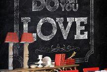 Chalk Chalk Chalkboard / #Chalkboard inspired walls, furniture and more.