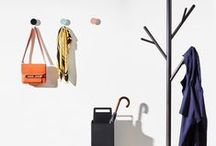 Accessories | DesignByThem / Wall hooks, coat stands, umbrella stands, magazine racks, hose reels and letterboxes. Assorted colours, metal & timber, indoor & outdoor use.