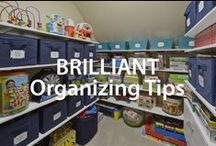 Brilliant Organizing Tips! | Organized Living / From closets and kitchens to laundry rooms and garages, easy home organizing tips all in one spot! #organizedliving #homeorganization / by Organized Living