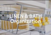 Linen & Bath Organization | Organized Living / Declutter your linen closet or bathroom cabinets with these home organization tips. #organizedliving #homeorganization / by Organized Living