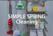 Simple Spring Cleaning Tips | Organized Living / It's never too late or too early to start spring cleaning. Whether it's winter, summer, spring or fall, these organized cleaning tips will help keep seasons spotless and running smooth. #organizedliving #homeorganization / by Organized Living