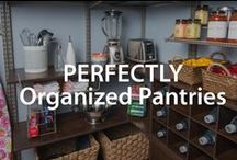 Perfectly Organized Pantries | Organized Living / Declutter Your Pantry  With These Tasty Organizing Ideas.