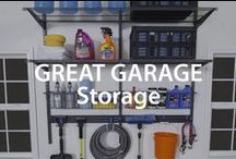 Great Garage Storage | Organized Living / Don't get caught with your garage door open before you've cleared the clutter. Follow these easy tips to organize your garage today. #organizedliving #homeorganization / by Organized Living