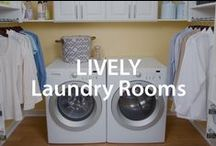 Lively Laundry Rooms | Organized Living / Lighten the load in the laundry room with these home organization tips. #organizedliving #homeorganization / by Organized Living
