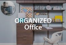 Organized Offices | Organized Living / How to create a beautiful, DIY, organized home office! #organizedliving #homeorganization / by Organized Living