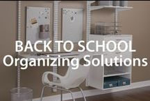 Back to School Organizing Solutions | Organized Living / Backpacks, paper, pencils and more!  Create a place for everything with these organization ideas for back to school season. #organizedliving #backtoschool / by Organized Living