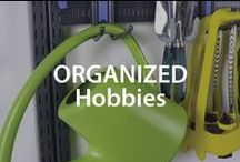 Organized Hobbies | Organized Living / An organized hobby space cultivates creativity!  Keep your favorite space tidy with these unique organizing tips. #organizedliving #homeorganization / by Organized Living