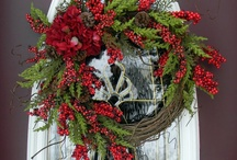 For the love of wreaths! / Here I am ! I stand at the door and knock . If anyone hears my voice and opens the door,I will come in and eat with him , and he with me .  To him who overcomes , I will give the right to sit with me on my throne , just as I overcame and sat down with my Father on his throne.  Rev.3:20, 21  The wreath forms a circle, which is a symbol of eternity because there is no being, and no end.  / by Heart Art ~ Behold, All Things New