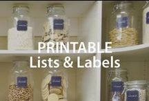 Printable Lists & Labels | Organized Living / Organize in style.  With these free printables everything in your home will have, not only a place, but a beautiful label. #organizedliving #homeorganization / by Organized Living