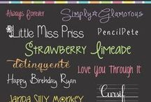 Fonts / by Jennifer Armstrong