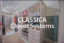 Classica Closet Systems | Organized Living / Discover this beautiful custom closet storage system.  Declutter your closets and enjoy beautifully organized closet design. #organizedliving #homeorganization / by Organized Living