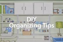 DIY Organizing Tips | Organized Living / DIY home organization tips. #organizedliving #homeorganization / by Organized Living