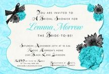 Bridal Flowers & Showers / Wedding shower invitations inspired by bridal flowers.