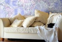 Maps & Murals / wall maps and murals in home decor