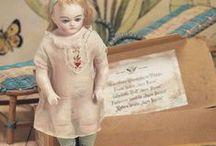 Dolls - Antique Cabinet Size