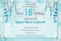 Winter Party Invitations & Inspiration / Frosty winter party invitations for winter onederland birthday cards, icy masquerade cards & other events! / by LilDuckDuck