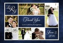 Collage Photo Wedding Thank You Cards / Collage photo wedding thank you cards to share several photos of your unforgettable day! These multi-photo wedding thank you notes are also keepsakes for your loved ones to treasure.