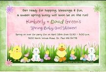 Spring Party Invitations & Ideas / Spring party invitations and Easter birthday celebration ideas for all of your sweet spring events this year!