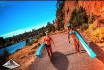 Stand On Liquid day on the Deschutes / Combine Our Boards With Some Models And This Is What We Got. Visit us at www.standonliquid.com