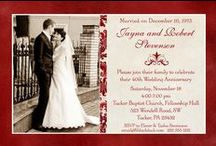 Ruby Wedding Anniversary Parties / 40th wedding anniversary invitations and party ideas