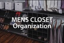 Men's Closet Organization / Learn best tips and tricks to keep a men's closet, clothing and accessories organized.  / by Organized Living