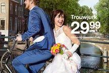 Trouwjurk / Een trouwjurk draag je maar één keer. (als het goed is)