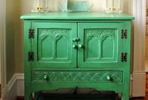 Painted Furniture / Love the idea of paying almost nothing for a piece of furniture at a thrift store, then painting it and making it a practical (or just beautiful) statement piece in your home.   / by Carie Lashley