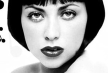 Celebrity Bobs - A Classic / Don't you love Black and White Photography! Changes the whole look! If you didn't see the name below the photo, you may not have known who it is. Hair and Makeup is transforming! / by Debra Finck