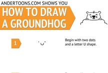 How to Draw a Cartoon Groundhog / by Andertoons