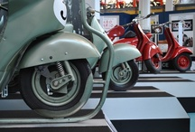 Vespa & Piaggio Museum restyling / Inaugurated on the 29th March 2000, the Piaggio Museum occupies 3,000 sq. m. of what used to be the company toolshop in one of the oldest buildings in Pontedera. The brainchild of Giovanni Alberto Agnelli, Piaggio's then young chairman, the Museum was designed by architect Andrea Bruno, with the aim of preserving the historic memory of the most important metal-mechanical company in the centre-south of Italy