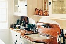 counters & cabinets / kitchen inspiration / by Molly Keating
