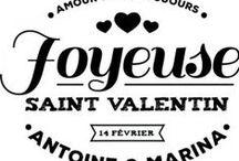 Tampon Saint Valentin / Tampon Saint Valentin à personnaliser