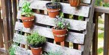 Jardinière et potager en palette / Surfez vous aussi sur la tendance palette ! Faire parler votre créativité en créant des jardinières et potager originaux !