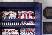 The Whole Year Through...Red, White and Blue Quilts / Show your pride all year with a red, white and blue quilt.