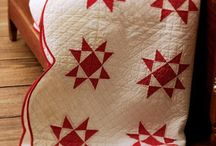 Classic Red and White Quilts / Any two color quilts are beautiful.  My favorite color is red.  Red makes me happy.
