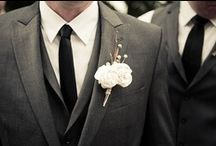 Suits. / Suit ideas for the groom and groomsmen.  / by Ashley McKnight