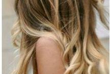 Cabelos Loiros / Inspirações de cabelos loiros, principalmente com estilo praiano, luzes, ombré hair, mechas californianas...